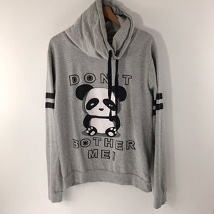 ON FIRE cowl neck sweatshirt size 1X PANDA
